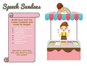 Speech Sundaes - Functional Following Directions