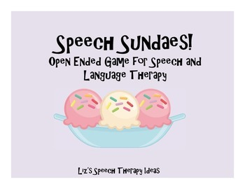 Speech Sundaes - open ended game for speech and language therapy