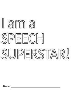 Speech Superstar Folder Cover