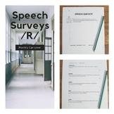 Speech Surveys - Monthly Articulation Carryover Activities for /R/