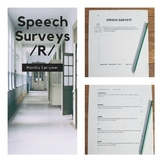 Speech Surveys - Monthly Articulation Carryover Activities