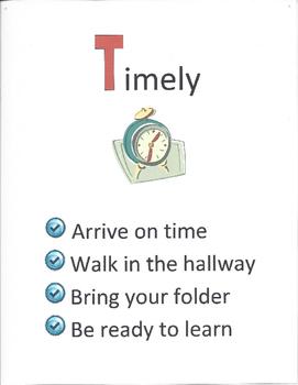 Speech TALK Classroom Rules Signs
