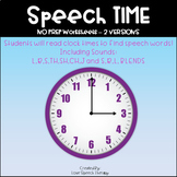 Speech TIME - No Prep Worksheets