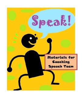 Speech Team -- Printable Materials to Help Organize the Chaos of Speech Season
