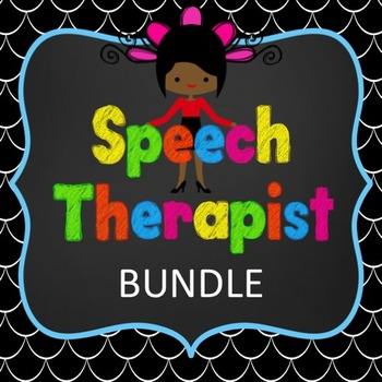 Speech Therapist Bundle  Wall Posters, Bookmarks, Hall Pas