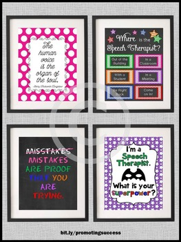 Where is the Speech Therapist Sign, Speech Therapy Room Decor BUNDLE