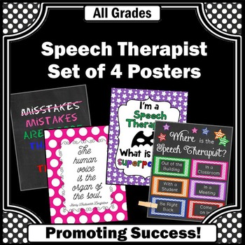 Where is the Speech Therapist Door Sign, Speech Therapy Room Decor BUNDLE