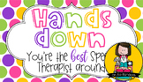 Speech Therapist Gift Tag | Hands Down