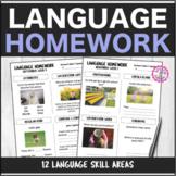 Speech Therapy 10 Month Language Homework Bundle