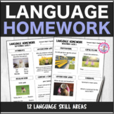 Speech Therapy 10 Month Language Homework Interactive PDF