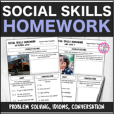 Speech Therapy 10 Month Social Skills Homework Interactive