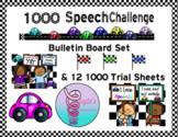 Speech Therapy 1000 Challenge Motivation Bulletin Board Set
