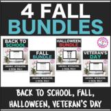 4 Fall Holiday Bundles Interactive PDF: Lang, Articulation
