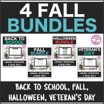 Speech Therapy 4 Fall Holiday Bundles Get 1 FREE