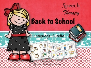 Speech Therapy 4 Fall Language Bundles: Get 1 FREE