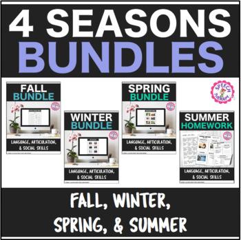Speech Therapy 4 Seasonal Bundles Get 1 FREE