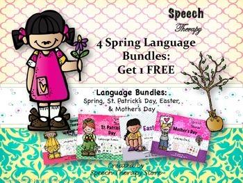 Speech Therapy 4 Spring Language Bundles Get 1 FREE