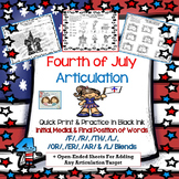 4th of July Articulation: /F/, /R/, /AR/, /ER/, /OR/, /TH/, /L/ blends