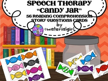 Speech Therapy 56 Reading Comprehension Story Questions Candy Jar Fun