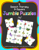 Speech Therapy 9-Square Jumble Puzzle - /s/