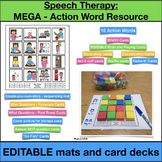 Speech Therapy: Action Word Mats and Playing Cards
