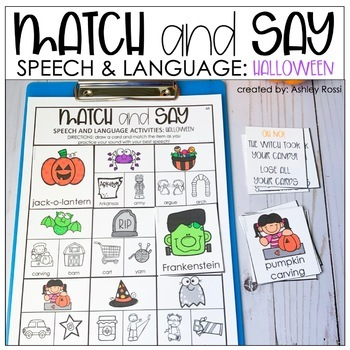 Speech Therapy Activities: MATCHING