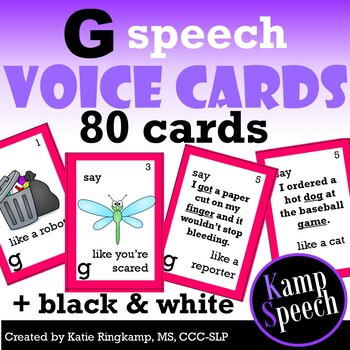 Speech Therapy Activities: Voice Impressions Articulation Cards G