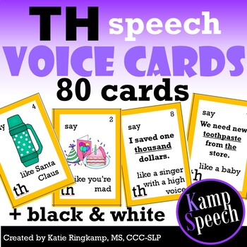 Speech Therapy Activities: Voice Impressions Articulation Cards TH