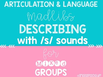 Speech Therapy Activities for Articulation and Describing Skills: S Edition