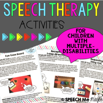 Speech Therapy for Children with Multiple Disabilities