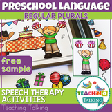 Preschool Speech Therapy Activity: Freebie for Teaching Regular Plurals