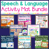 Speech Therapy Activity Mats BUNDLE