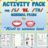Speech Therapy: Activity Pack For /S/ VS.  /TH/ Minimal Pa