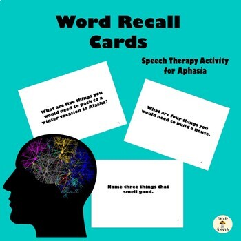Speech Therapy Activity for Aphasia- Word Recall
