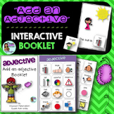 Speech Therapy Add an adjective interactive booklet make a sentence