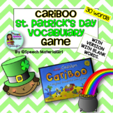 Speech Therapy St. Patrick's Day vocabulary Cariboo Cranium Game