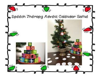Speech Therapy Advent Calendar Game
