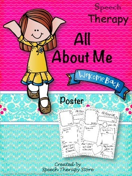 Speech Therapy All About Me!