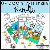 Speech Therapy Articulation and Language Animals BUNDLE -