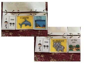 Speech Therapy Animal/Location Flipbook booklet I see categories Autism