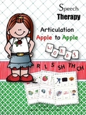 Speech Therapy Apple to Apple Articulation Game