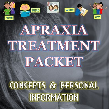 Speech Therapy: Apraxia Treatment Packet Targeting Concept