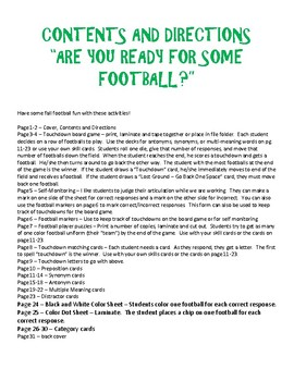 Speech Therapy:  Are You Ready for Some Football?