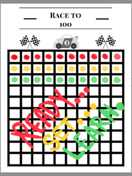 Speech Therapy - Artic Game - Race to 100 - Dice Game (Paint-A-Dot or Toy Car)