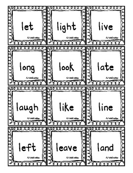 Speech Therapy Artic Sight Words /L/ all positions ( Homework/Games/Flashcards)