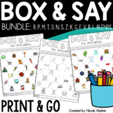Speech Therapy Articulation Activities: BOX & SAY Game