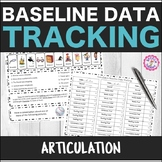 Speech Therapy Articulation Baseline Data