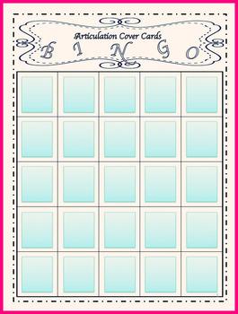Speech Therapy Articulation Bingo Bundle
