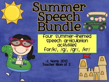 Speech Therapy Articulation Bundle Summer Review