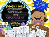 Speech Therapy Articulation CARRYOVER Fun w/ CHARADES kit Visual cards